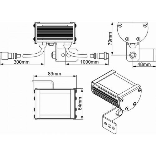 Светодиодный линейный светильник Wizard SL Line-1-20-01-P
