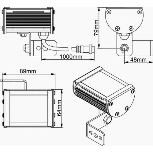 Всепогодный линейный светильник Wizard SL Line-1-65-01-C-7,5V