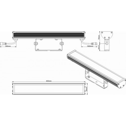 Светодиодный линейный светильник Wizard SL Line-4-20-12-P